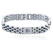 Luxury Stainless Steel Crown Bracelet For Women Black Gold Color Pulseira Feminina Lover's Engagemen