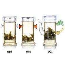 Théière à poignée en verre résistant à la chaleur   Rouge/blanc/Dragon 1 pièce avec infuseur et couvercle