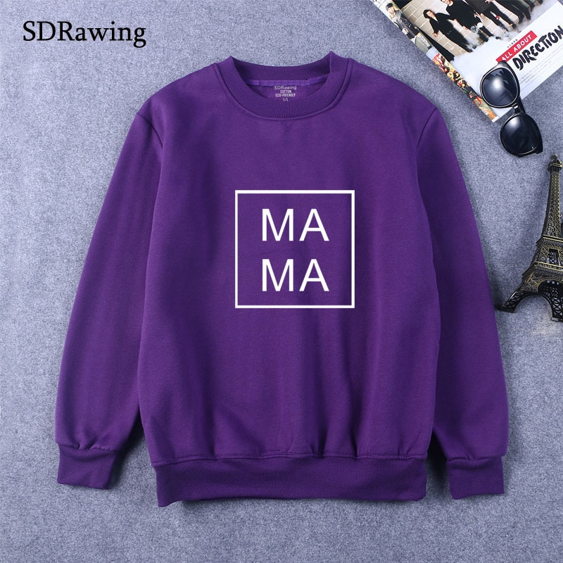 Mama Square WomenPrint Women Sweatshirts Casual Hoodies For Lady Girl Funny Hipster  Drop