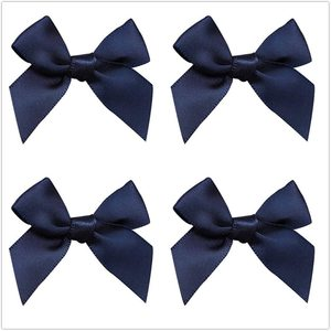 25pcs Mini Satin Ribbon Bows 42mm x 39mm Appliques DIY Craft for Sewing, Scrapbooking, Wedding, Christmas