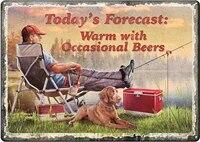 Produits signe en etain chaud avec bieres occasionnelles  resistant aux intemperies avec trous pre-perfores pour suspendre signe de maison douce Happy