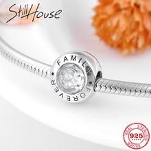 Ajustement Original Pandora Bracelet de perles de charme fabrication de bijoux authentique 925 argent Sterling famille pour toujours breloques perles