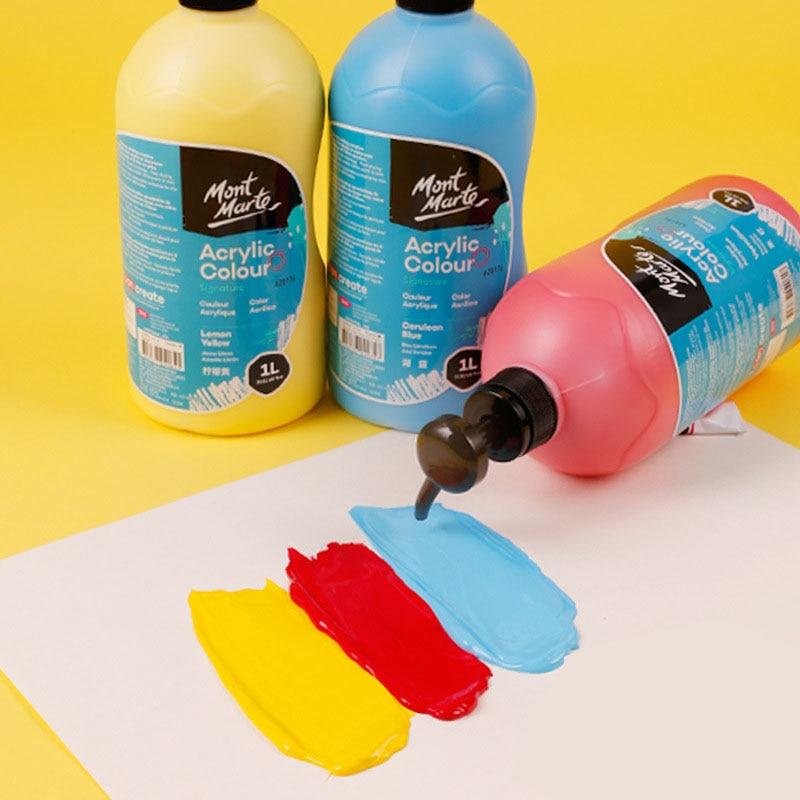 Фото - 1Л акриловая краска для начинающих Рисование каллиграфия Акварельная краска Водонепроницаемая ручная краска ed настенная краска для рисова... краска