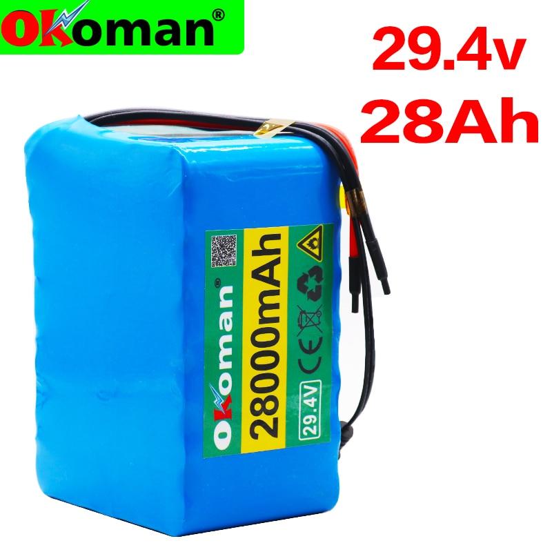 7S5P 24v 28Ah батарея 250w 29,4 V 28000mAh литий-ионный аккумулятор для инвалидной коляски блок батарей электрического велосипеда с BMS