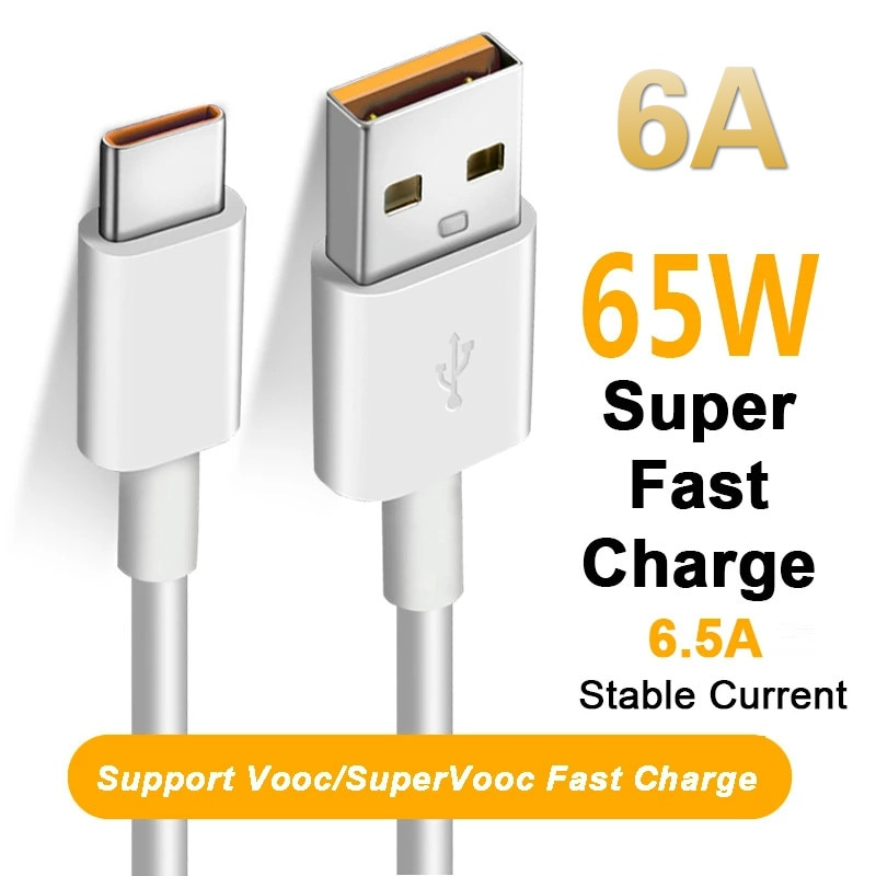 66W 65W 6A Super dardo Cable de cargador USB de tipo C...
