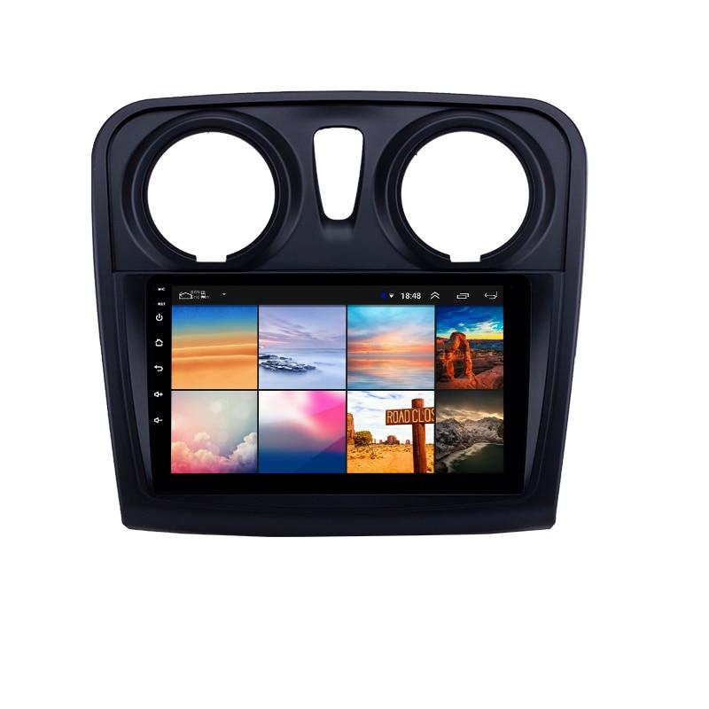 For Renault Dacia Sandero 2012-2017 2 Din Android 9 Inch Car Multimedia Player WIFI FM GPS Navigatio