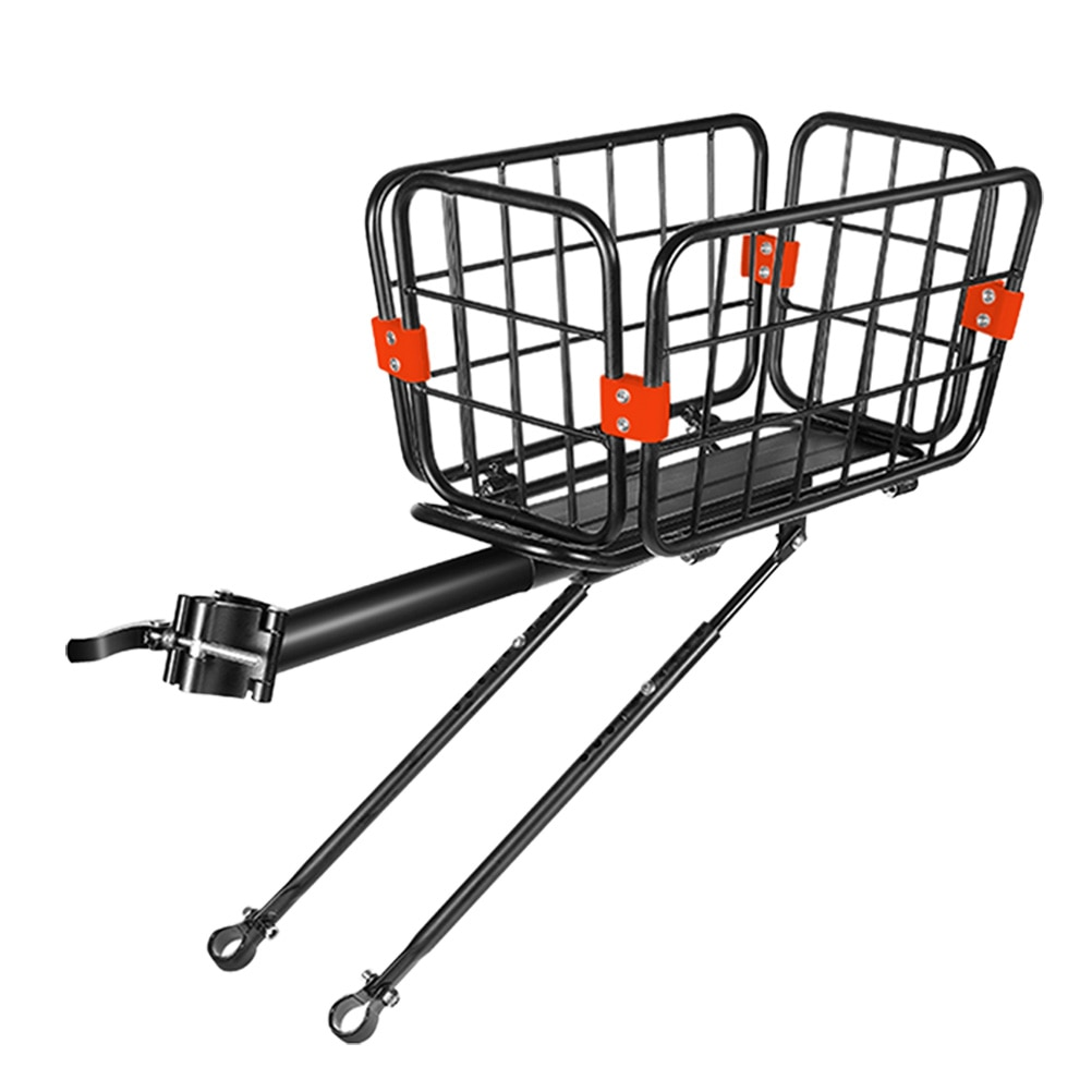 1 Pc Cargo Rack for Rear Seat Storage Basket for Bikes And Electric Bikes (Black)