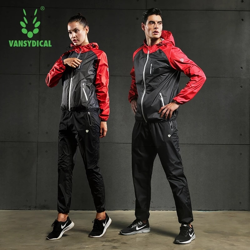 Vansydtical-بدلة رياضية ساونا للرجال ، قمصان الجري ، سترات العرق الساخنة ، لياقة كمال الأجسام ، ملابس التدريب مع سحاب