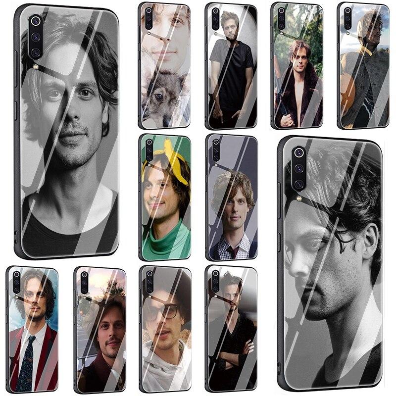 EWAU Matthew Gray Gubler Tempered Glass Phone Case for Xiaomi 4X 6A Note5 6 7 pro Mi 5X 6X 8 9 A1 A2