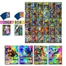 Sent At Random 20PCS/Pack TAKARA TOMY Pokemon Cards VMAX GX EX MEGA Booster Box English Trading Game