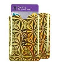 10PCS RFID 알루미늄 금속 신용 카드 커버 여성 패션 카드 홀더 남자 NFC 차폐 된 보호 카드 케이스 특별 제공