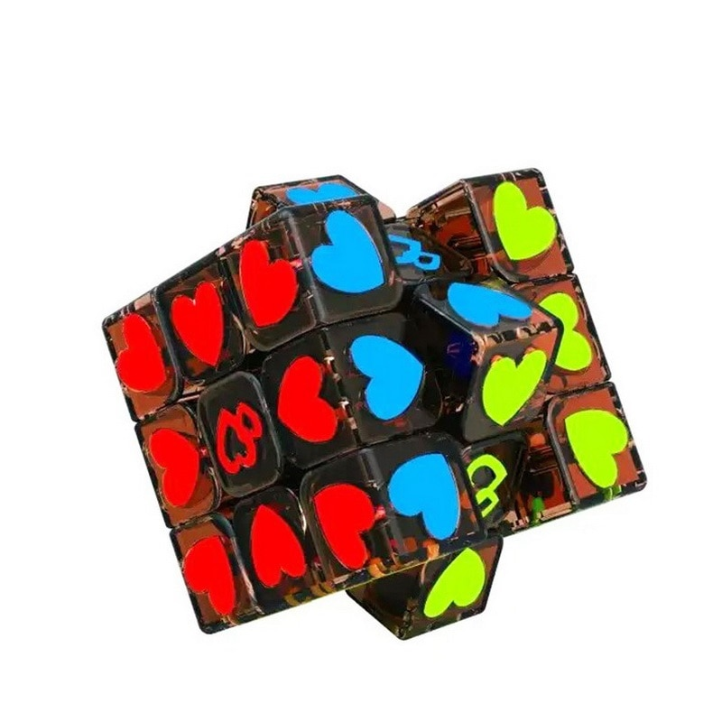 new 3x3 torsion magic cube magnetique coloful twisted cube puzzle toy stickerless puzzles colorful educational toy bandaged cube Magic Cube Magnetique Bandaged cube Heart  Anti Anxiety Finger game toy Stress Reliever Cube Funny Toys Best Gift for Children