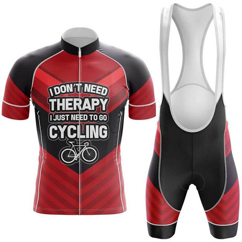 Conjunto de Ropa de Ciclismo para hombre, Maillot de manga corta, pantalones...