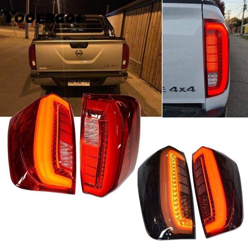Par de luces traseras Lmap Taillamp Assy, luces traseras de freno para Nissan Navara NP300 2015 2016 2017 2018 2019