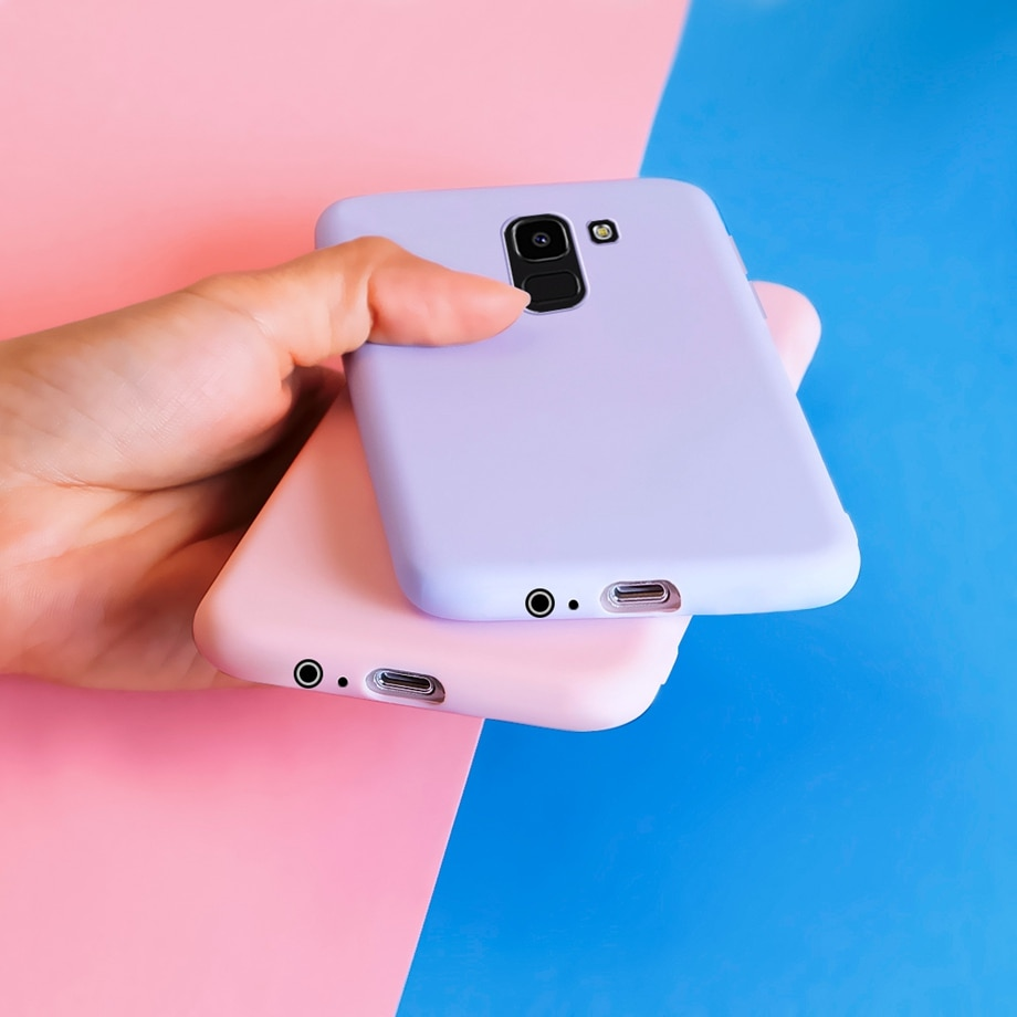 Soft Silicone Phone Case For Samsung J6 Plus Cases Cover TPU Bumper For Samsung Galaxy J6Plus 2018 J6+ J 6 Plus J600 J610F Case
