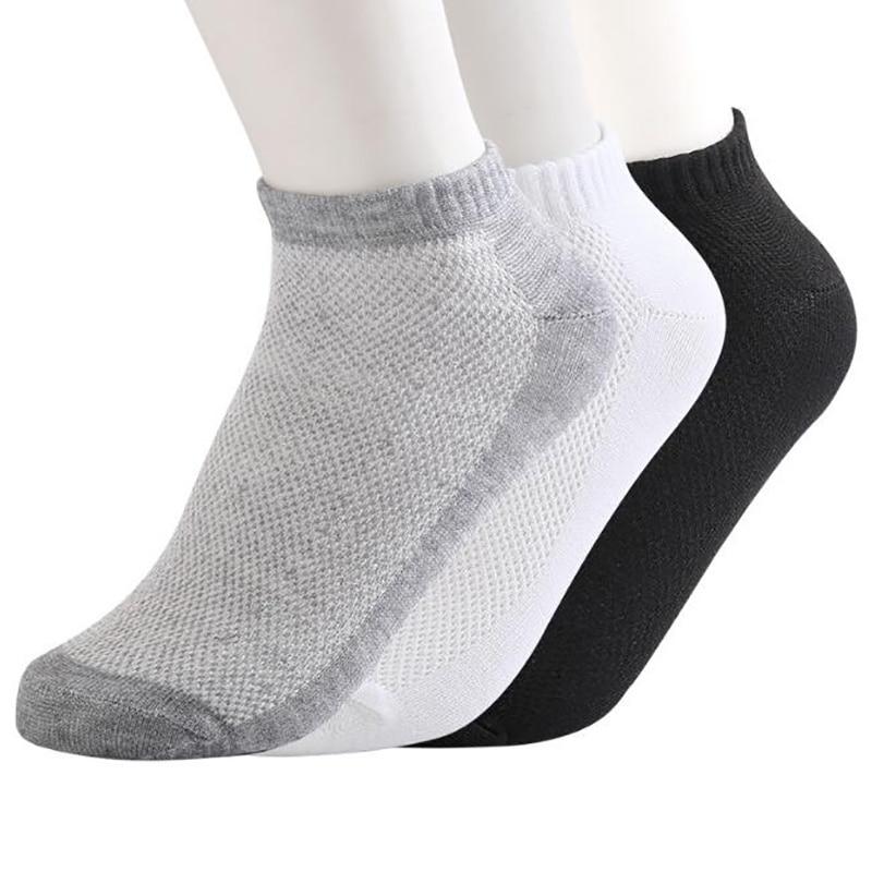 Летние дышащие мужские носки до щиколотки, повседневные спортивные тонкие мужские и женские носки, короткие носки для мужчин, носки унисекс...
