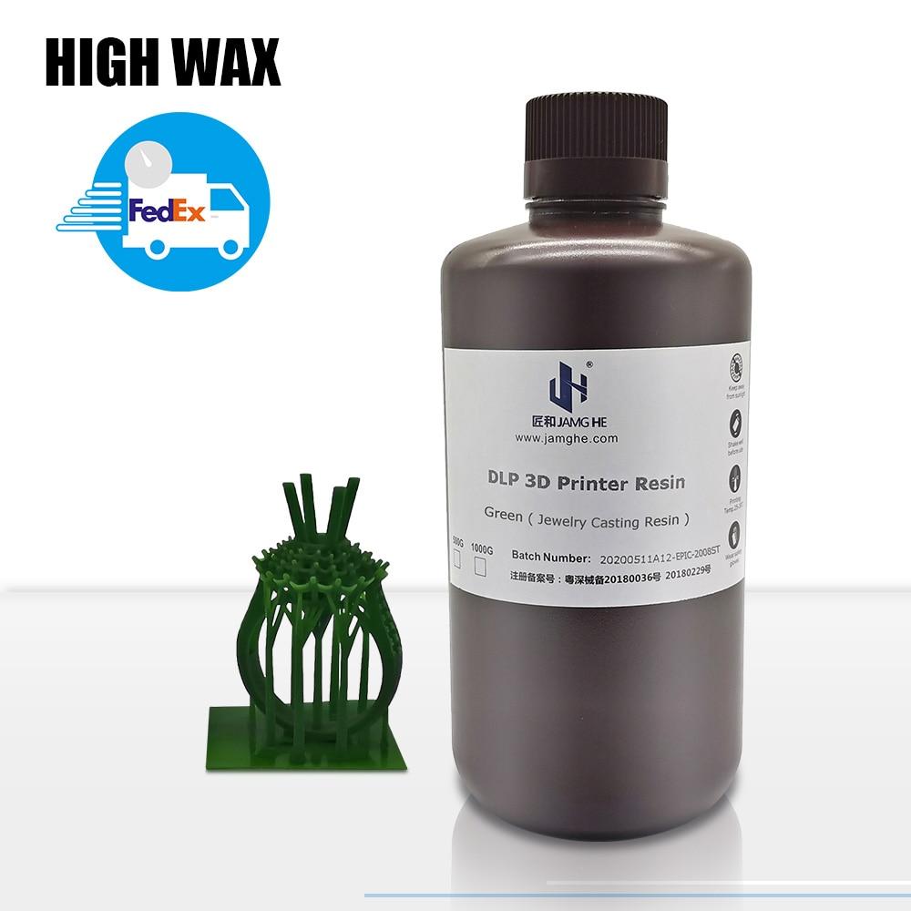 Jamghe cera de alta resistencia resina 3D impresora para Anycubic fotón 3D de resina grande 3B manejar 405nm 3DResin impresora UV 500G