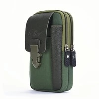 male casual zipper men waist bags small solid color card holder 4 inch phone packs belt fanny purse