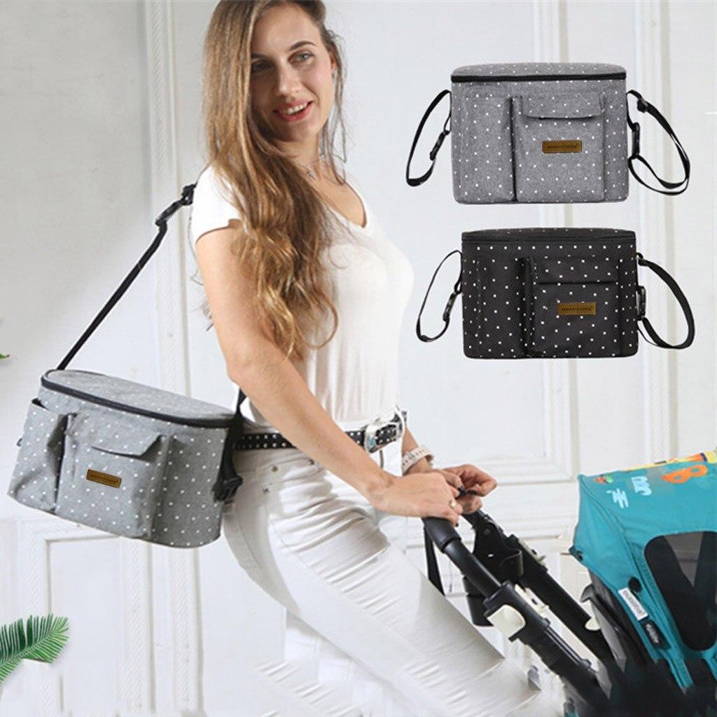 Alta qualidade crianças bebê multifuncional sacos de carrinho de criança saco de ombro único com zíper saco de fraldas boneca brinquedo para o bebê do miúdo pacote #6.26
