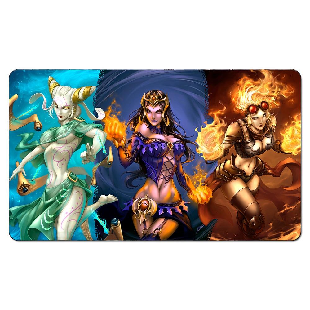 High Quality Custom Design Magic the Gathering PlayMat ,Board Games Chandra Nalaar Mousemat , MTG Playmats With free Gift Bag