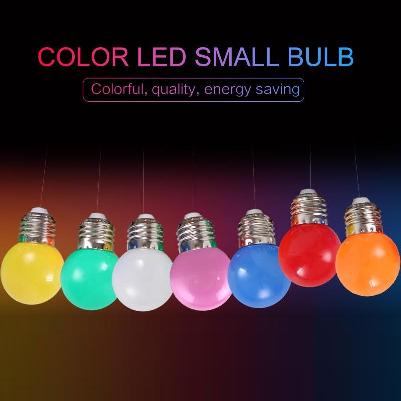 LED Bulb 3W Decorative Lighting Energy-saving Lamp Screw Color Small Bulb LED Colorful Lamp 220V LED Bulb Colorful Bulb LED Lamp