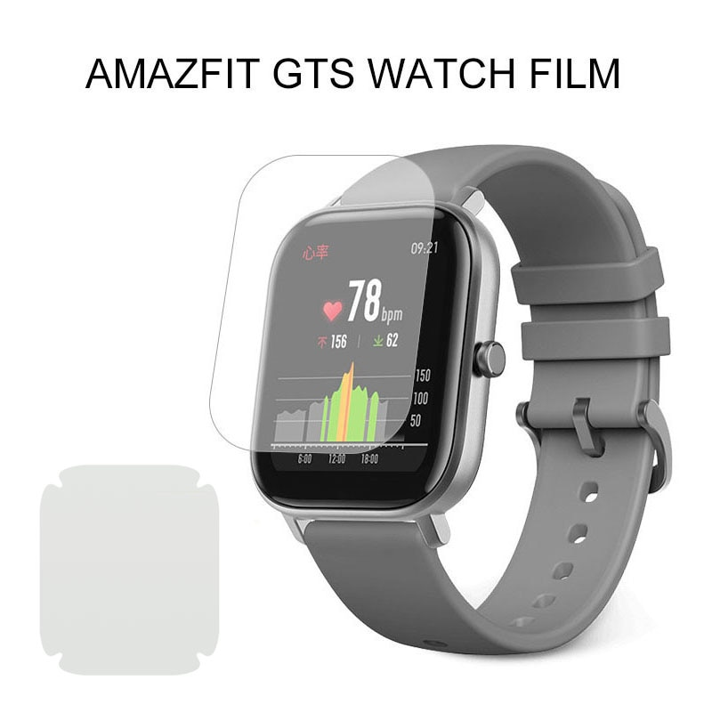 5PCS Screen Protector For Xiaomi Amazfit GTS Film Strap Smart Watch Full Soft Glass Soft Clear Prote