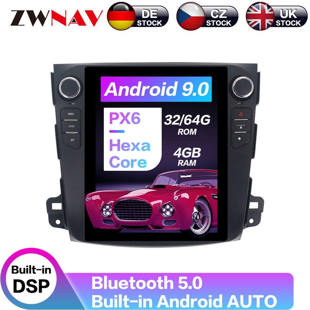 Android 9 Tesla Style voiture GPS Navigation pour Mitsubishi Outlander 2006-2012 unité principale lecteur multimédia Radio magnétophone PX6