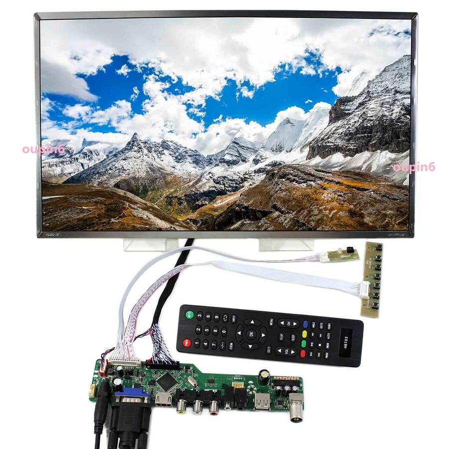 Kit for B133XW01 V2/V0/V1/V3/V4/V5/V7 1366x768 LED LVDS AV 40pin LCD Screen Audio VGA Remote Controller Doard HDMI Panel TV USB