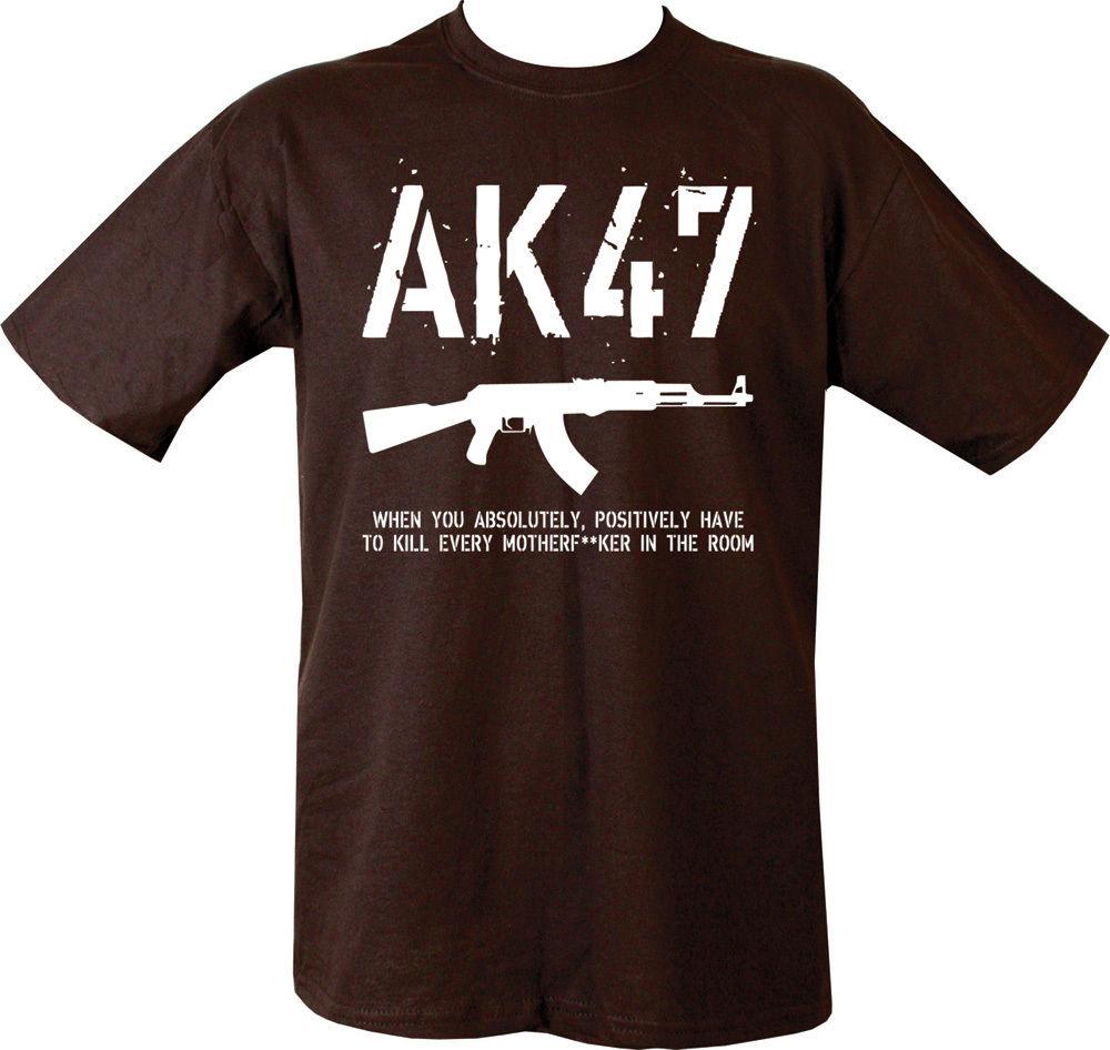 Camiseta militar AK47 GUN KALASHNIKOVA, camiseta negra PARA Rusia, Rusia, USSR, estilo de última noticia