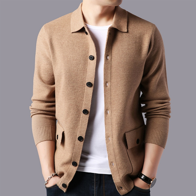2020 New Sweater Men Cashmere Warm Cardigan Men High Quality Fashion Wool Pull Homme Autumn Male Sweater Coat
