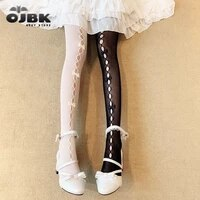 ojbk hollow out handmade bow knot over knee 1pc sexy women cute lace pantyhose tights good stretch lolita fashion stocking 2020