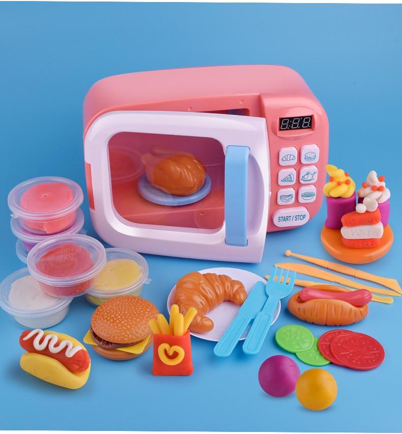 Детские кухонные игрушки, моделирование, микроволновая печь, игрушки, веселые игрушки, набор, детские развивающие игрушки для детей, подарок