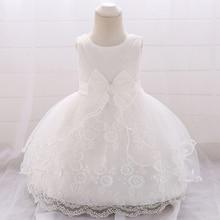Robe de baptême blanche pour bébé fille   Robe de princesse pour fête et mariage, robe danniversaire de 2 à 1 ans, pour enfants de 6 à 18 mois, 2020