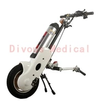 free shipping 400w wheelchair trailer with 12ah lithium battery electric handbike