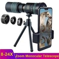 Телескоп Tongdaytech 8-24X HD, монокулярный объектив со штативом и зумом, для Iphone, Samsung, охоты, туризма