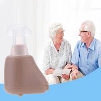 mini hearing aid ear audiphone sound voice amplifier for old man elderly listen music calls watching tv hearing aids