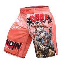Pantalon de boxe homme impression short MMA kickboxing combat grappin court panda Muay Thai Shorts de boxe sanda Kickboxing shorts