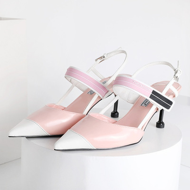2021 Multi-color Womens Sandals Ladies Back Strap High Heel Shoes Cut Out Buckle Gladiator  Women Sh