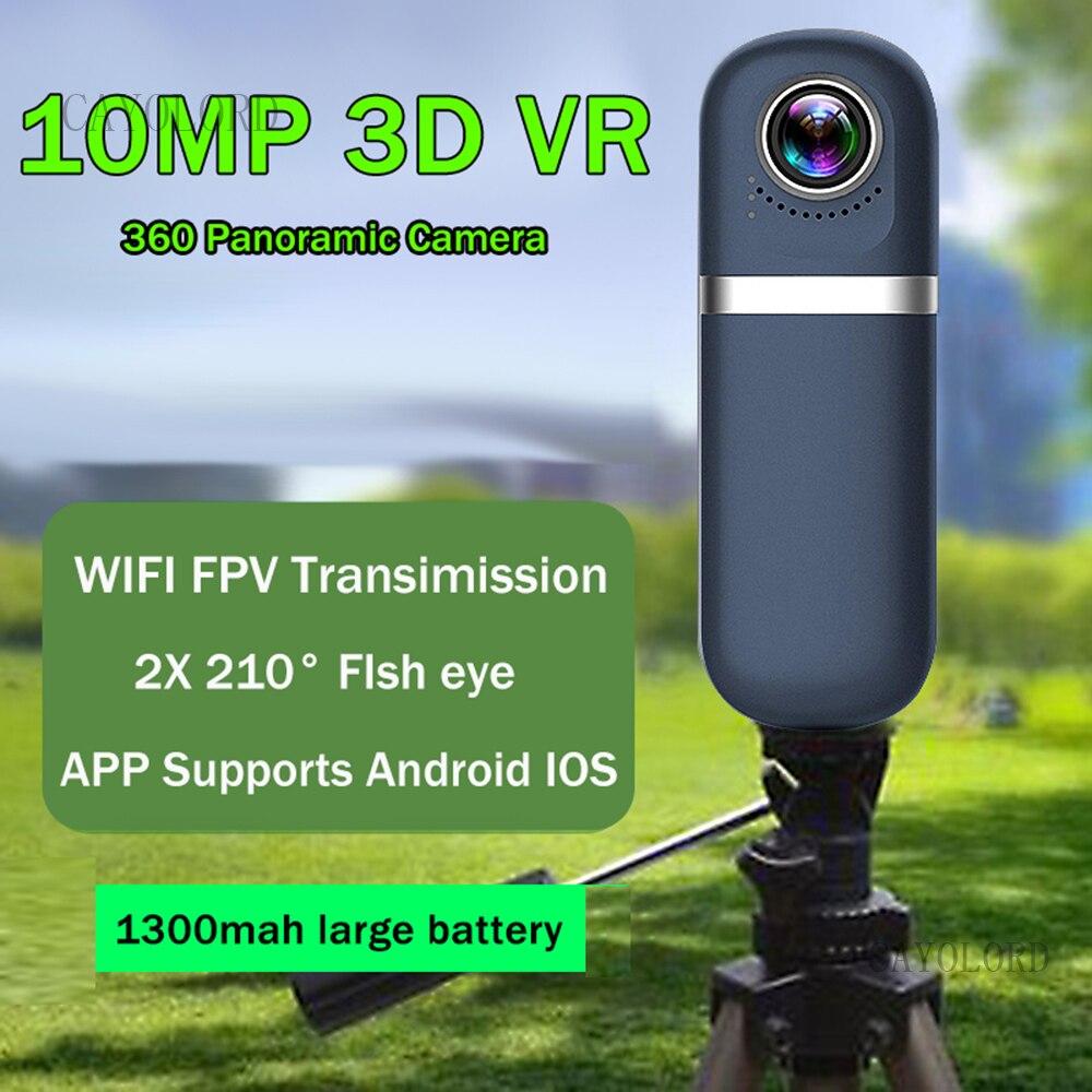 1080P 10MP كاميرا 720 التصوير الفوتوغرافي ثلاثية الأبعاد كاميرا الواقع الافتراضي 360 درجة مشاهدة بانورامية Comcorder مسجل فيديو صور