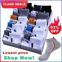 Calcetines tobilleros de algodón transpirables para hombre, medias deportivas de malla, de corte fino, informales, para verano, talla 38-48, 10 pares