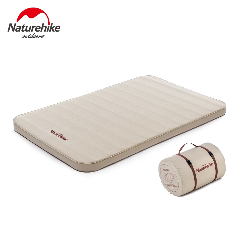 Naturehike Self-inflating Outdoor Camping Mat Thicken Single Double Sponge Sleeping Bed Inflatable Pad Soft Cot Air Mattress
