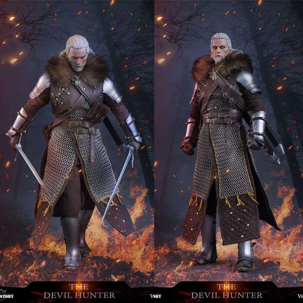 Em estoque história de guerra 1/6 ws005 demon hunter série o primeiro 12 polegadas móvel boneca collectible presente