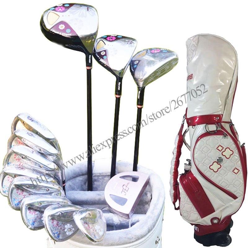 Novas mulheres clubes de golfe maruman fl conjunto completo golf drive fairway madeira ferros golfe clubes grafite eixo frete grátis