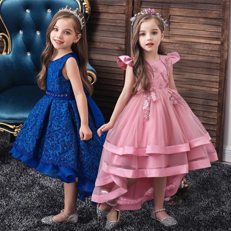 Детское платье-пачка с цветами для девочек, детское вечернее платье на свадьбу для девочек, костюм для первого причастия