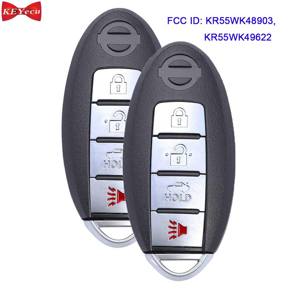 KEYECU 2 uds para Infiniti FX35 G37 Q40 para Nissan Altima Maxima Murano Control remoto de coche 315MHz KR55WK48903 KR55WK49622
