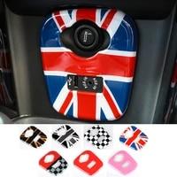 abs car cigarette lighter usb aux panel trim cover case sticker for bmw mini cooper s jcw f55 f56 f57 car styling accessories