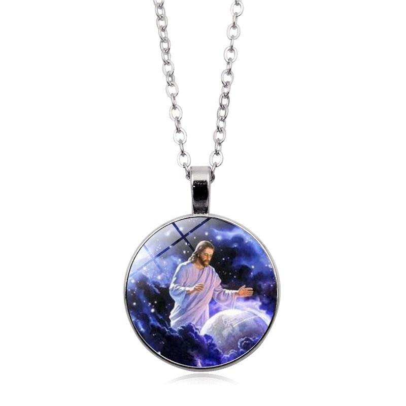 Ожерелье с драгоценными камнями Jesus time христианское ювелирное ожерелье