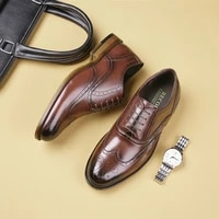 2021 new large size brogue shoes mens business suits gentleman breathable mens shoes mens casual leather shoes mens shoes