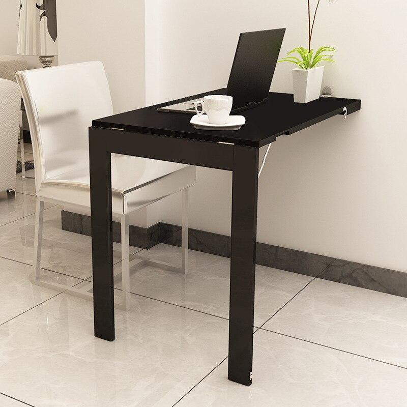 Mesa plegable Invisible Simple, mesa plegable con Mural multifuncional, mesa plegable para familia pequeña, mesa de comedor para 4 personas 2 familiares