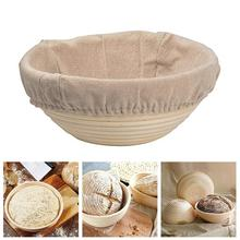 Round Rattan Woven Bread Fermentation Dough Proofing Storage Fermentation Indonesian Rattan  Fermentation Basket + Cloth Cover